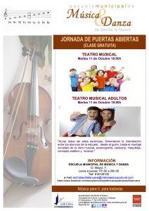 Jornada de puertas abiertas en la Escuela Municipal de Música y Danza