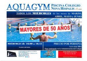 Aquagym para mayores de 50 años @ Piscina Colegio Nova Hispalis