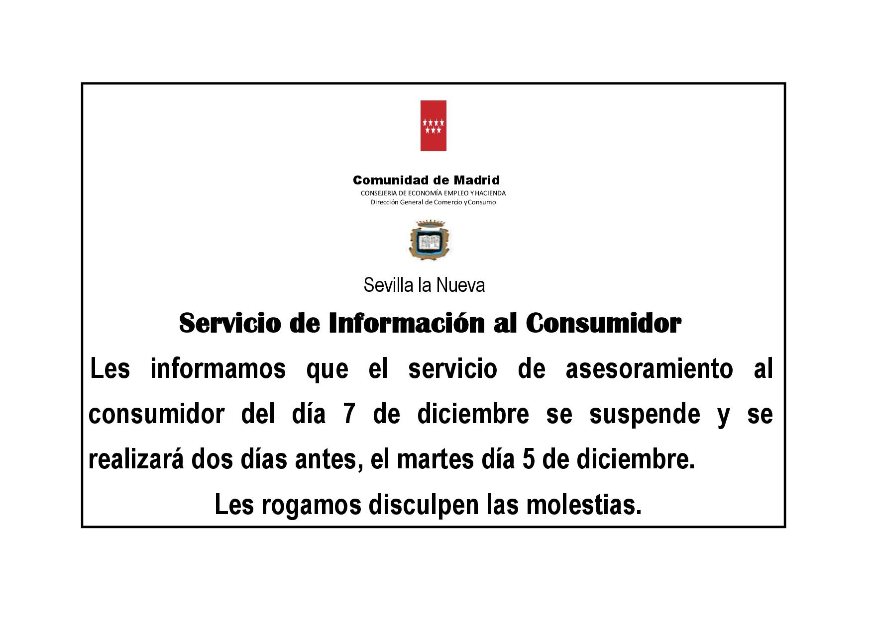 Aviso cambio de d a en el servicio de atenci n al consumidor de sevilla la nueva - Oficina de atencion al consumidor valencia ...