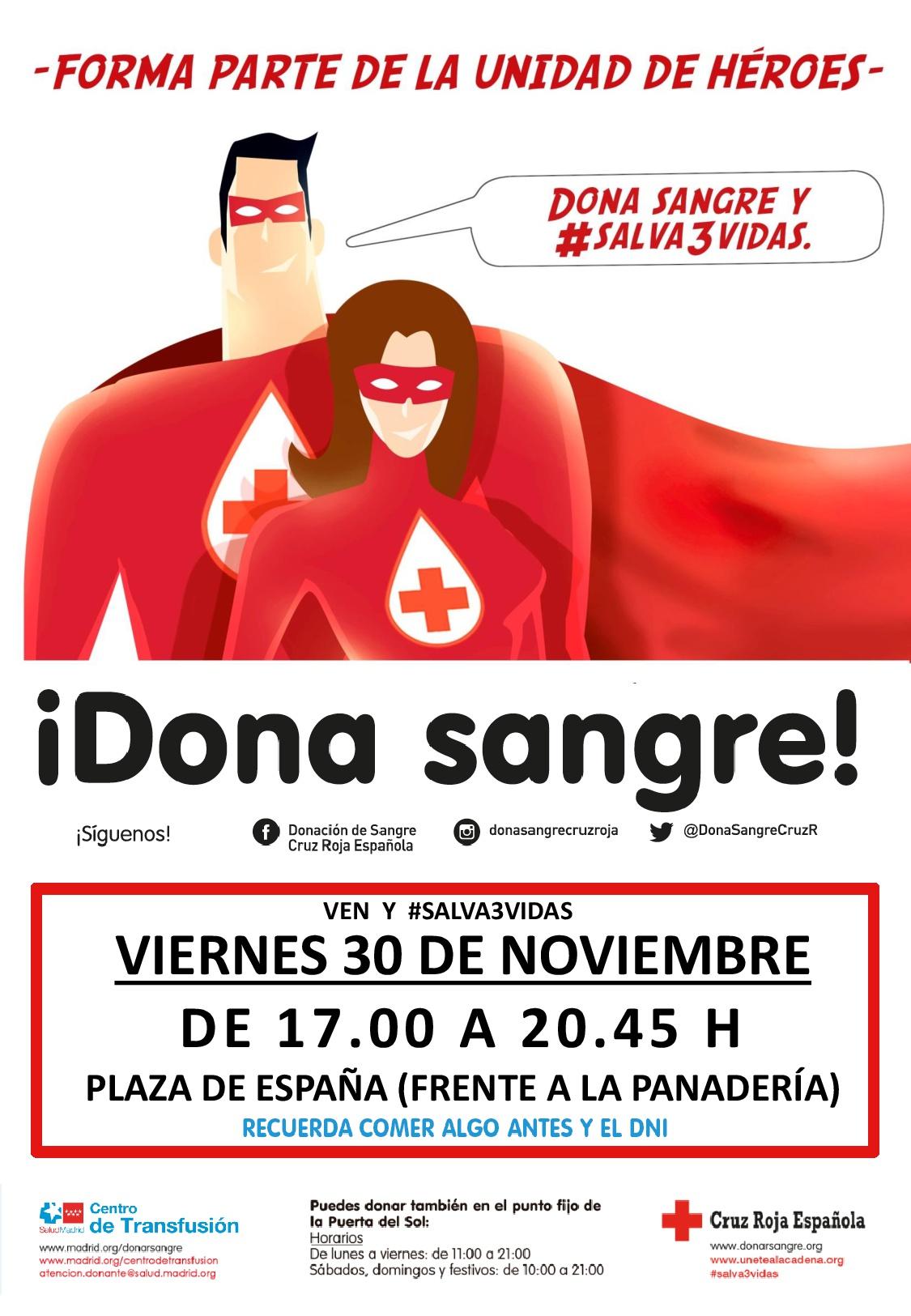 Autobús Donación de Sangre de Cruz Roja @ Plaza de España