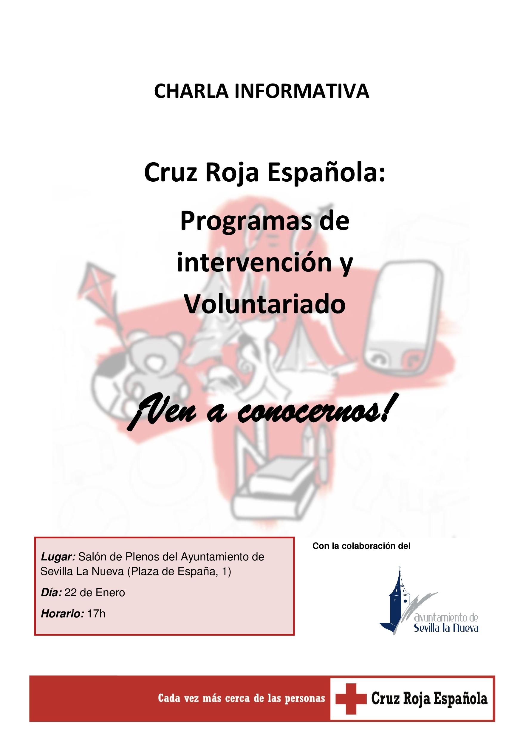 Charla Informativa - Cruz Roja Sevilla la Nueva @ Salón de Plenos