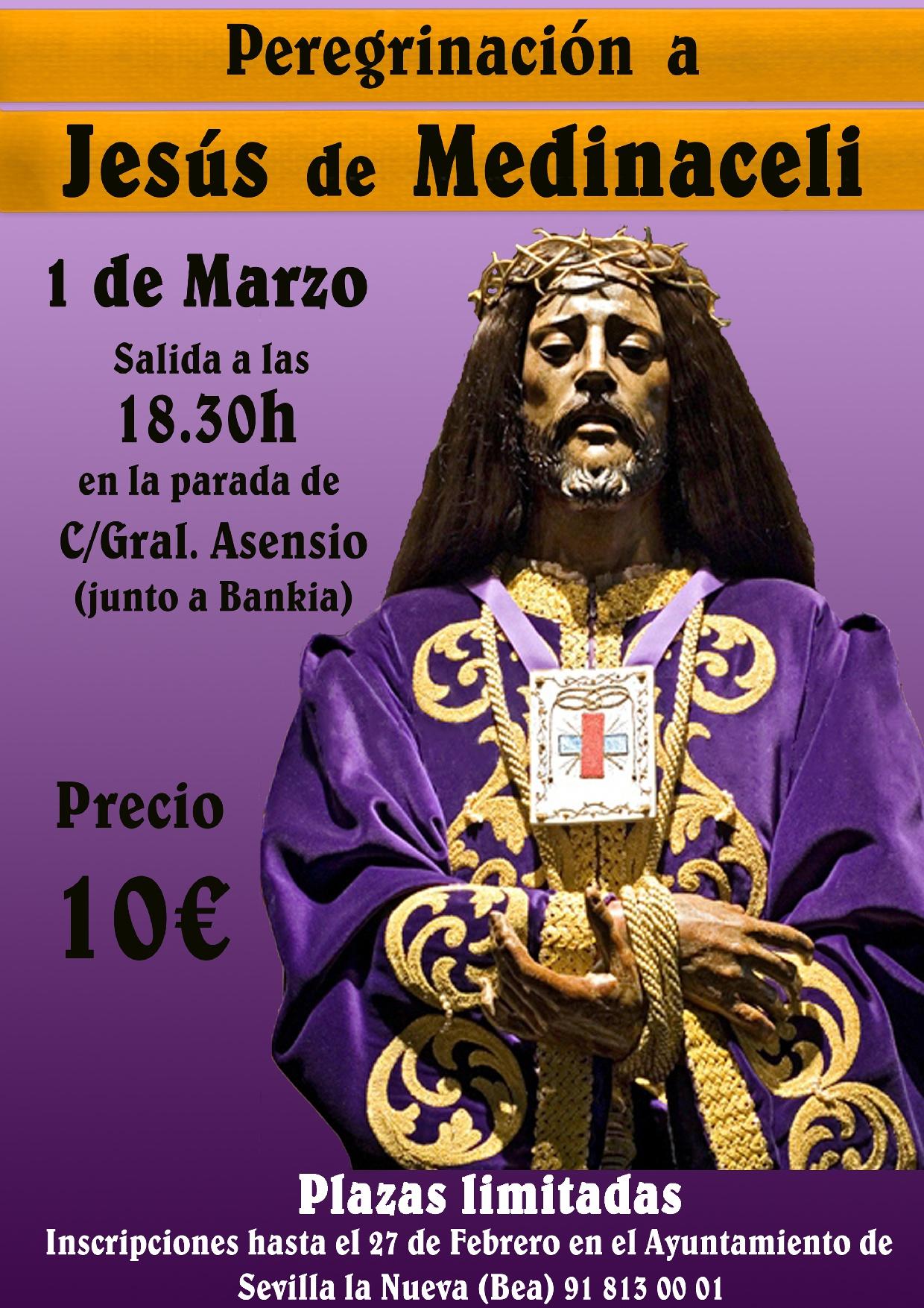 Peregrinación a Jesús de Medinaceli @ Calle del General Asensio