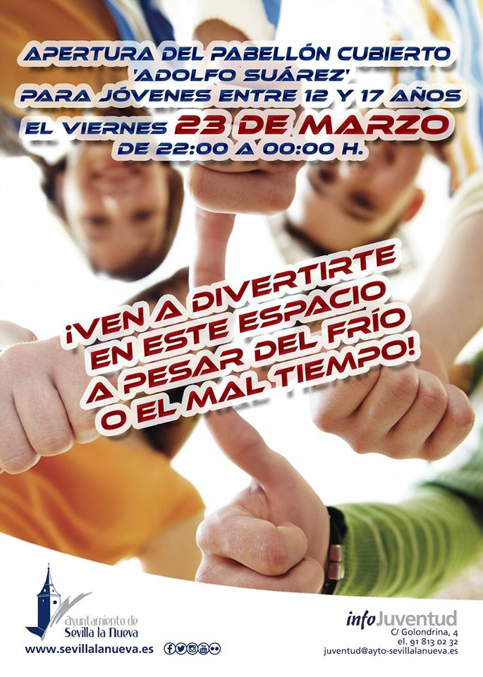 Apertura nocturna del Pabellón 'Adolfo Suárez' para jóvenes @ Pabellón Cubierto 'Adolfo Suárez'