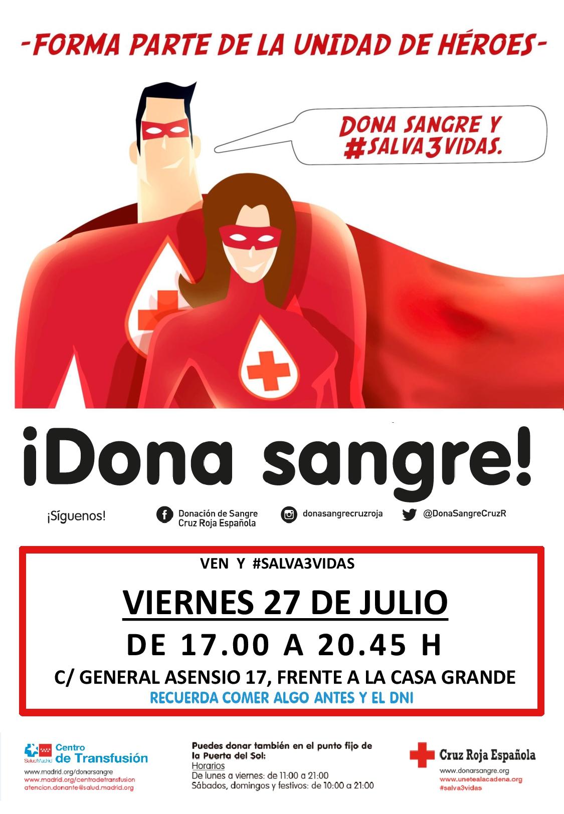 Autobús de Donación de Sangre - Cruz Roja Española @ Calle General Asensio, 17