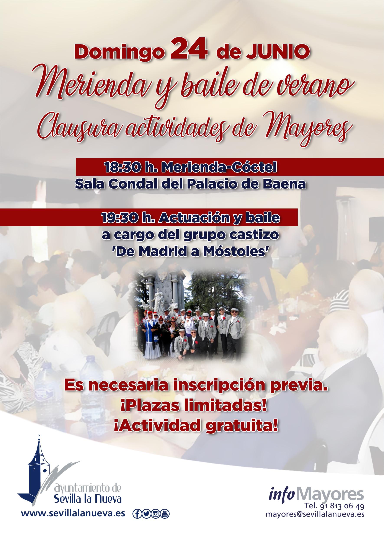 Merienda y baile de verano para Mayores @ Palacio de Baena y Plaza de los Arcos