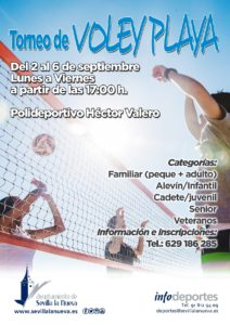 Torneo de Voley Playa @ Polideportivo Héctor Valero