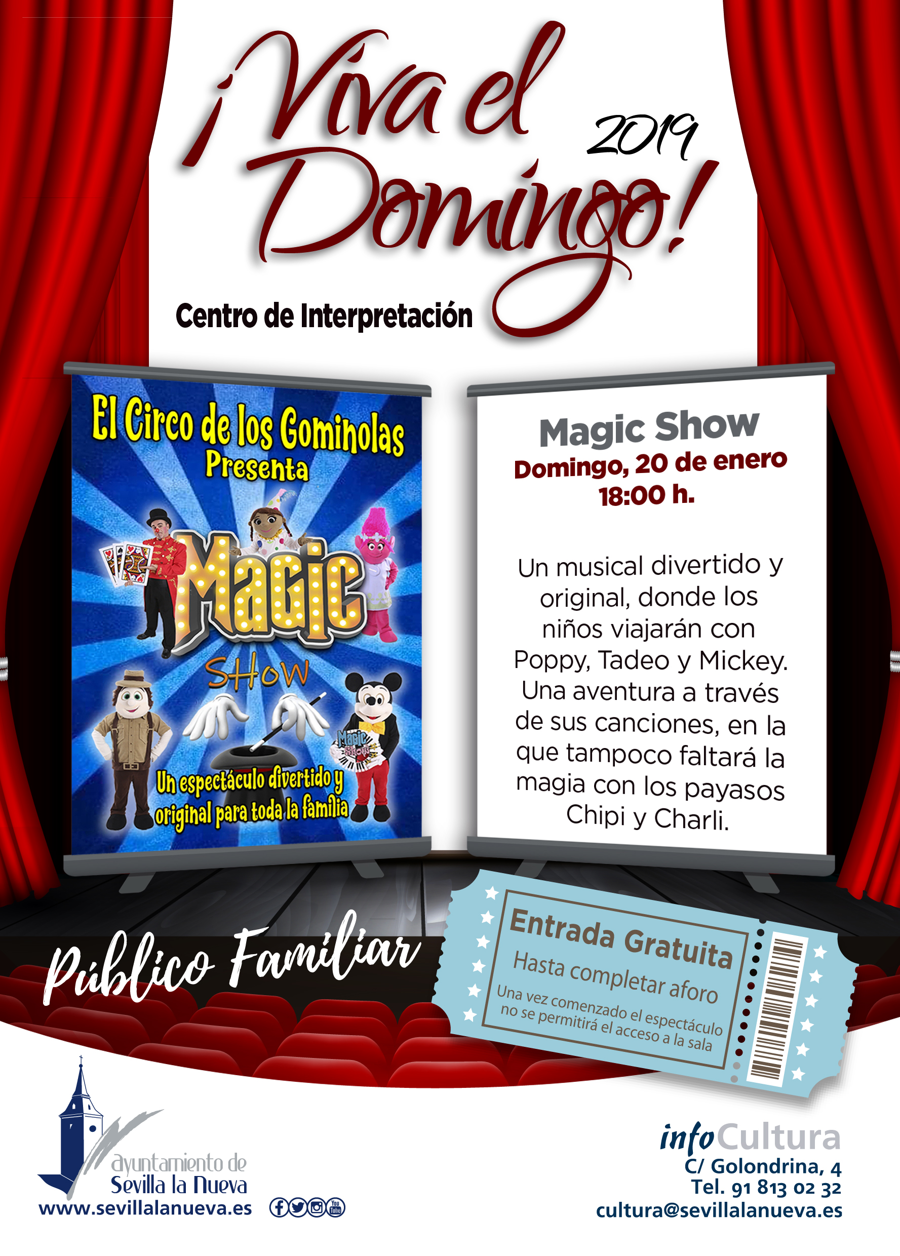 ¡Viva el domingo! - Magic Show @ Centro de Interpretación