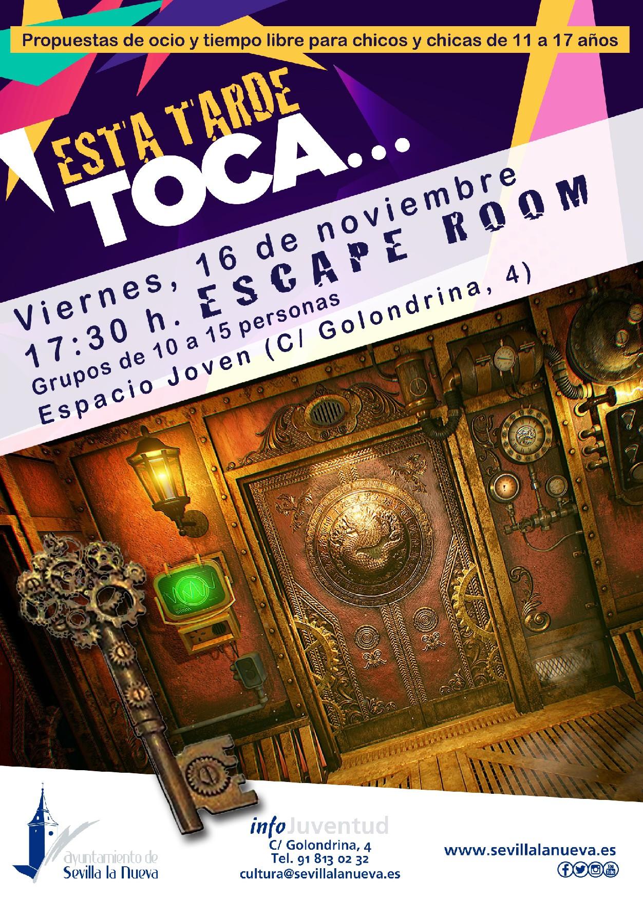 Escape Room Sevilla la Nueva @ Espacio Joven