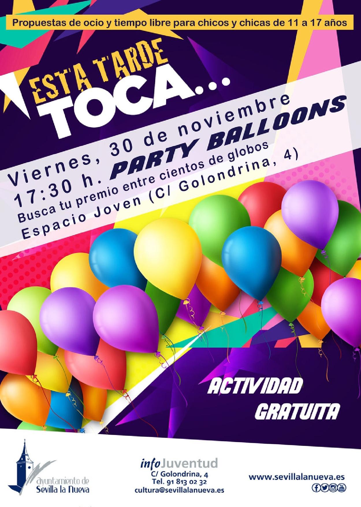 Party Balloons Sevilla la Nueva @ Espacio Joven