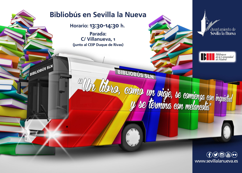 Bibliobús en Sevilla la Nueva @ Calle Villanueva