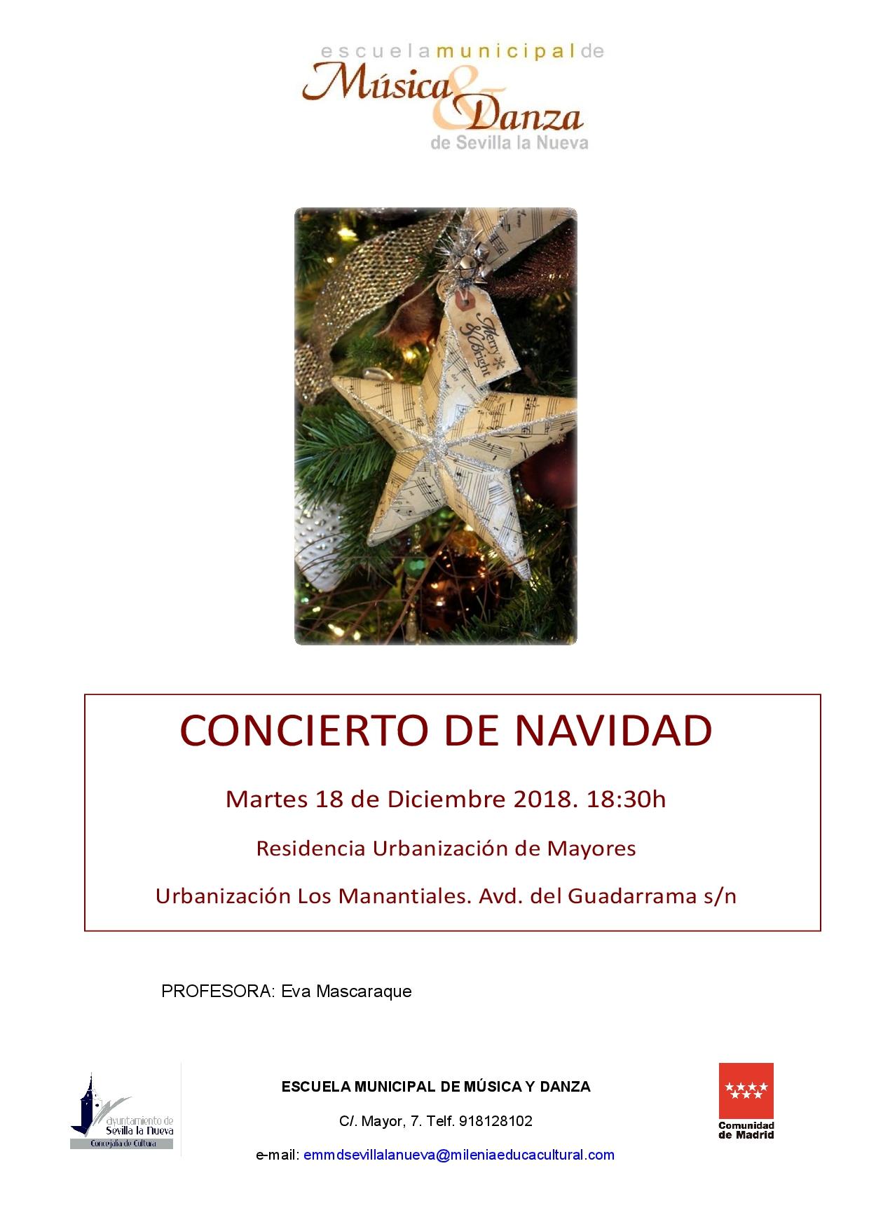 FESTIVAL DE NAVIDAD – Alumnas/os danza de la EMMD @ Urbanización de Mayores