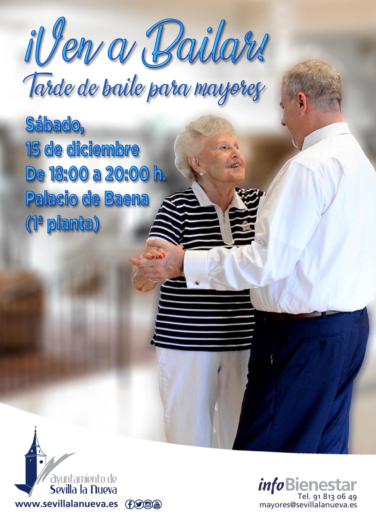 ¡Ven a bailar!, tarde de baile para Mayores @ Palacio de Baena