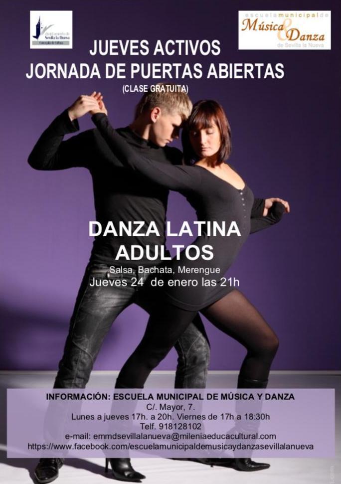 Puertas Abiertas Bailes Latinos Adultos @ Escuela Municipal de Música y Danza