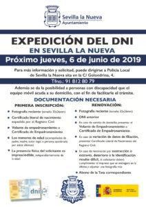 Expedición del DNI en Sevilla la Nueva @ Policía Local