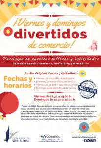 Viernes y Domingos Divertidos de Comercio @ Plaza de los Arcos