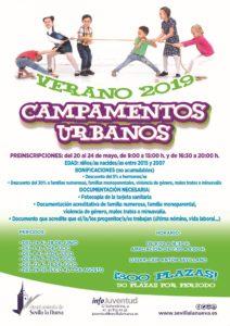 Campamentos Urbanos 2019 - Inscripciones @ Concejalía de Juventud