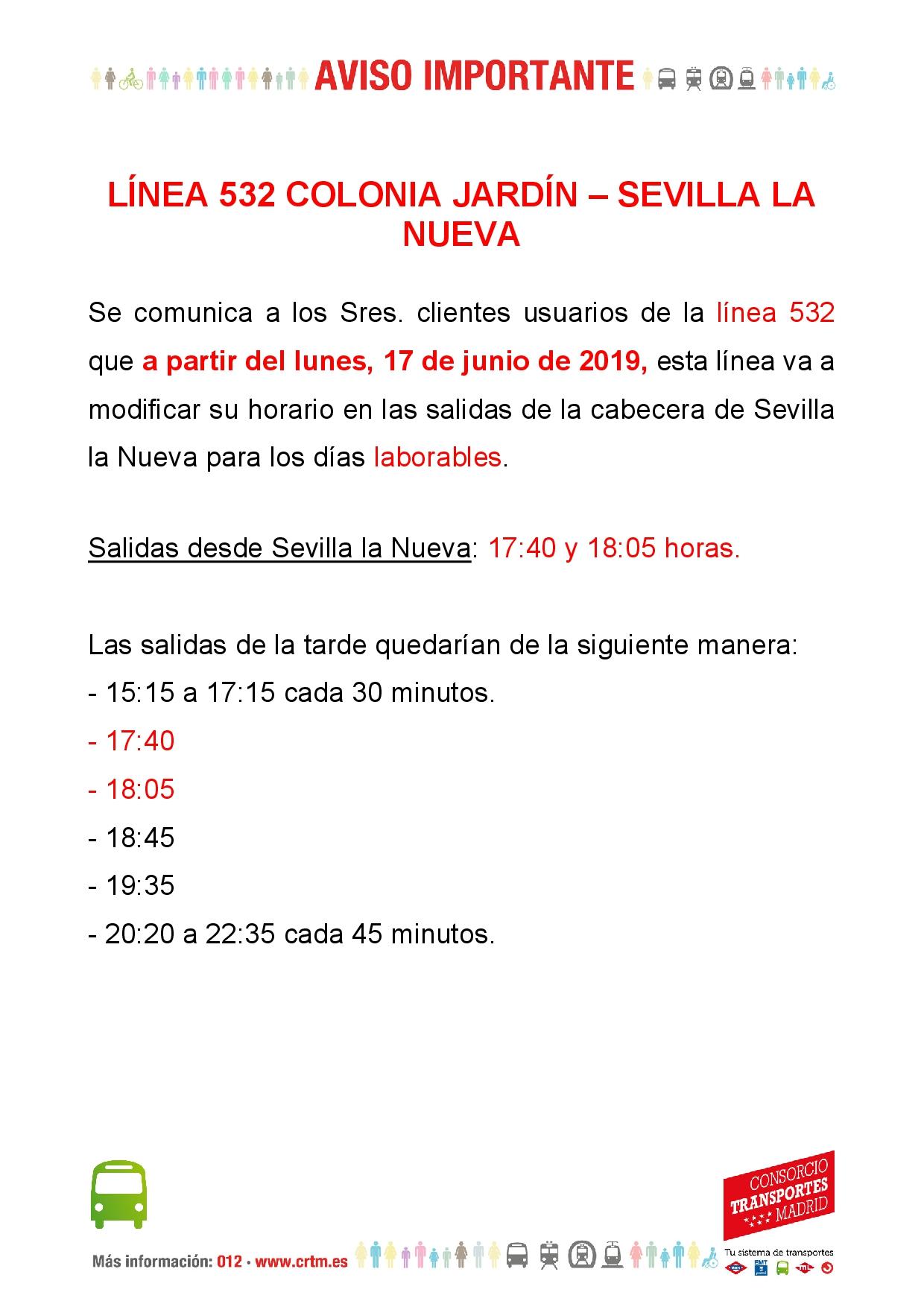 Se Adelantan Dos Servicios De La Linea De Autobus 532 Entre Sevilla