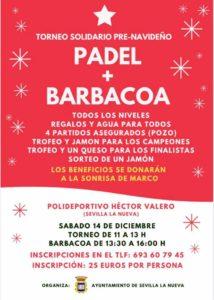 Torneo solidario de Pádel + Barbacoa. @ Polideportivo Héctor Valero