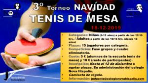Torneo de Navidad de Tenis de Mesa @ Colegio Nova Hispalis