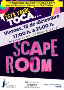 Esta tarde toca... Scape Room @ Espacio Joven