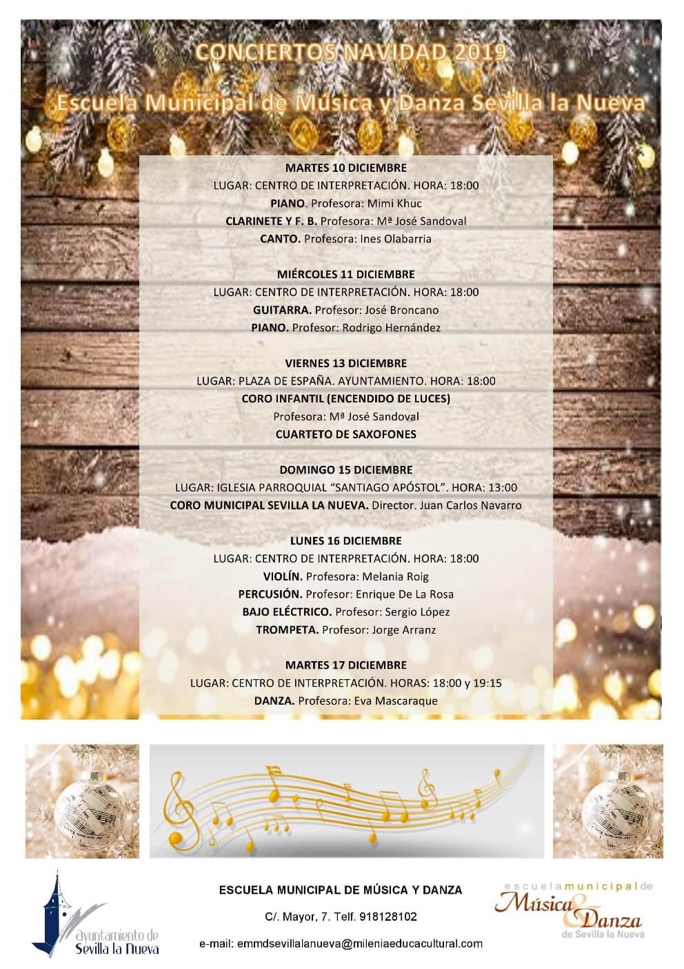 Concierto de Navidad EMMD. Piano y guitarra. @ Centro de Interpretación