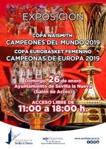 Exposición Copas de Baloncesto @ Salón de Actos Ayuntamiento Sevilla la Nueva