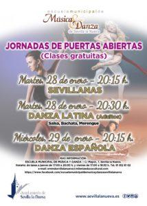 """Jornada de Puertas Abiertas Escuela Municipal de Música y Danza """"Sevillanas"""" @ Escuela Municipal de Música y Danza"""