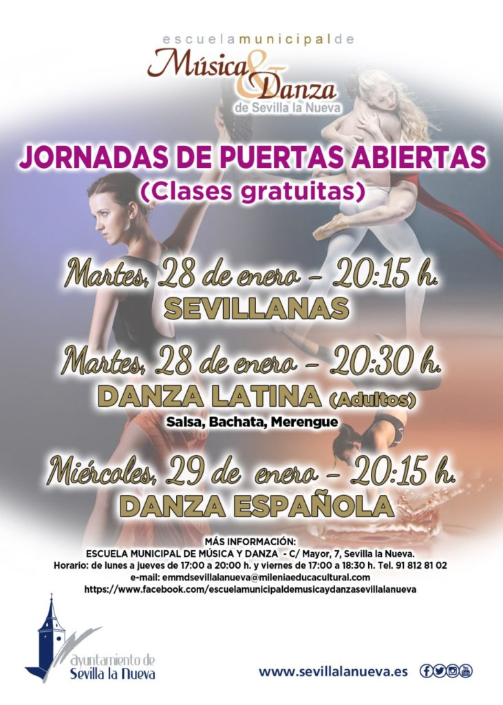 """Jornada de Puertas Abiertas Escuela Municipal de Música y Danza """"Danza Española"""" @ Escuela Municipal de Música y Danza"""