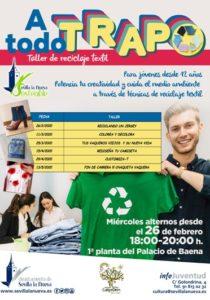 "Taller de reciclaje textil ""A todo trapo"" @ Palacio de Baena 1ª Planta"