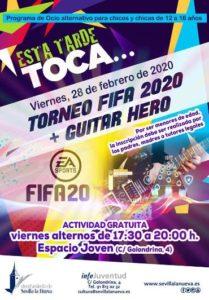 Esta tarde toca... Torneo Fifa 2020 y Guitar Hero @ Espacio Joven c/ Golondrina