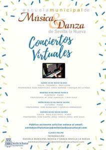 Conciertos virtuales EMMD (flauta, bajo eléctrico y piano)
