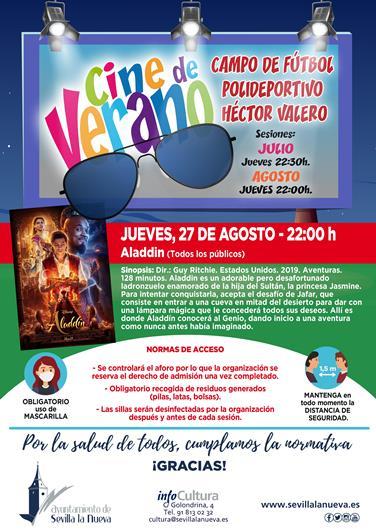 "Cine ""Aladdin"" @ Campo fútbol Polideportivo Héctor Valero"
