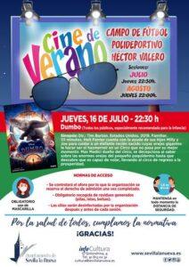 "Cine de verano ""Dumbo"" @ Campo fútbol Polideportivo Héctor Valero"