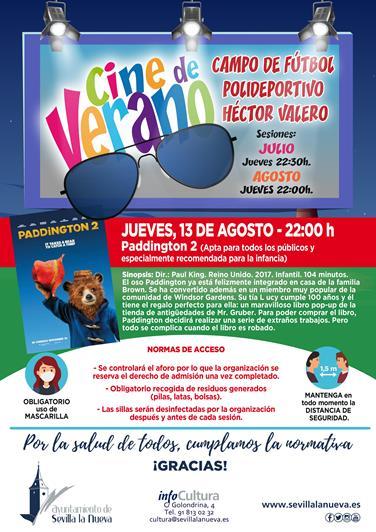 "Cine ""Paddington 2"" @ Campo fútbol Polideportivo Héctor Valero"