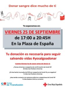 Donación de sangre Cruz Roja Española @ Plaza de España