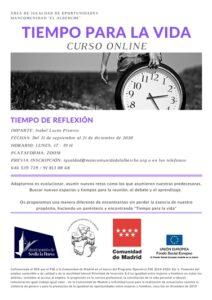 """Curso online """"Tiempo para la vida"""" @ Zoom"""