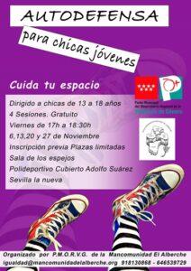 Taller de autodefensa para chicas jóvenes @ Pabellón Cubierto Adolfo Suárez