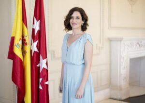 Visita de la presidenta de la Comunidad de Madrid Isabel Díaz Ayuso