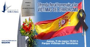 Ofrenda floral homenaje a las VÍCTIMAS DEL TERRORISMO @ Parque Víctimas del Terrorismo
