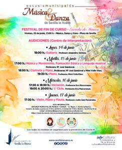 Festival fin de curso, Escuela Municipal de Música y Danza de Sevilla la Nueva.